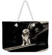Car And Dog Weekender Tote Bag