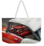 Car - Classic 50's  Weekender Tote Bag by Mike Savad