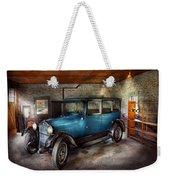 Car - Granpa's Garage  Weekender Tote Bag by Mike Savad