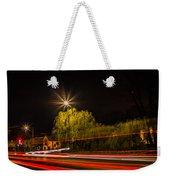 Car Light Trails Weekender Tote Bag