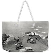 Car Over Edge On Highway One  Big Sur  California    March 27 1947 Weekender Tote Bag