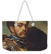 Carabinier Officer With His Horse, C.1814 Oil On Canvas Weekender Tote Bag
