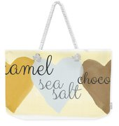 Caramel Sea Salt And Chocolate Weekender Tote Bag