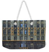 Carbide And Carbon Building Weekender Tote Bag by Adam Romanowicz