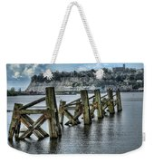 Cardiff Bay Old Jetty Supports Weekender Tote Bag