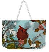 Cardinal And Apples Weekender Tote Bag