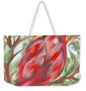 Cardinal At Rest Weekender Tote Bag