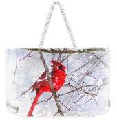 Cardinal Christmas-2014 Weekender Tote Bag