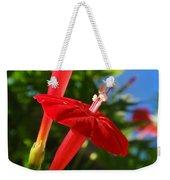Cardinal Climber Flowers Weekender Tote Bag