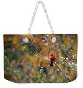 Cardinal In Autumn Weekender Tote Bag