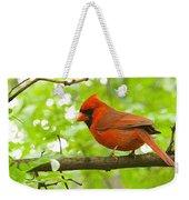 Cardinal In Red Weekender Tote Bag