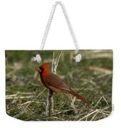 Cardinal In The Field Weekender Tote Bag