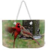 Cardinal Kiss Weekender Tote Bag