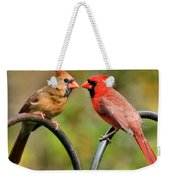 Cardinal Love Weekender Tote Bag