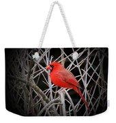 Cardinal Red With Black Weekender Tote Bag