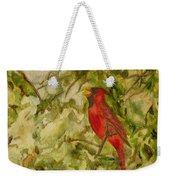 Cardinal Singing Weekender Tote Bag