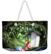 Cardinal Tail Wide Landing Digital Art Weekender Tote Bag