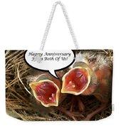 Cardinals Anniversary Card Weekender Tote Bag