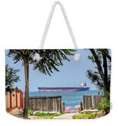 Cargo Ship On Chesapeake Bay Weekender Tote Bag