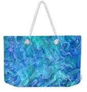 Caribbean Blue Abstract Weekender Tote Bag