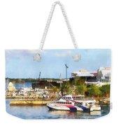 Caribbean - Dock At King's Wharf Bermuda Weekender Tote Bag