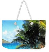 Caribbean - Palm Trees And Beach St. Thomas Vi Weekender Tote Bag