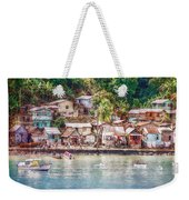 Caribbean Village Weekender Tote Bag