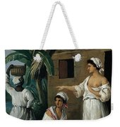 Caribbean Women In Front Of A Hut Weekender Tote Bag