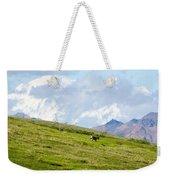 Caribou And Mount Mckinley Weekender Tote Bag