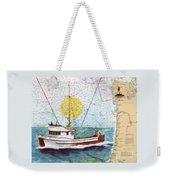 Carina Trawl Fishing Boat Nautical Chart Map Art Weekender Tote Bag