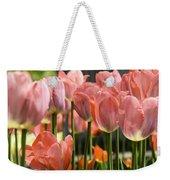 Caring Pink Tulip Time Weekender Tote Bag