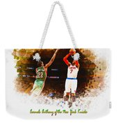 Carmelo Anthony Of The New York Knicks Weekender Tote Bag