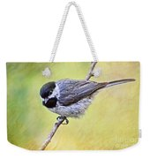 Carolina Chickadee On Angled Perch - Digital Paint Iv Weekender Tote Bag