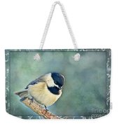 Carolina Chickadee With Decorative Frame I Weekender Tote Bag