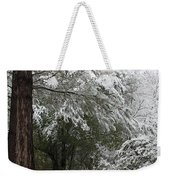 Carolina Snowfall Weekender Tote Bag