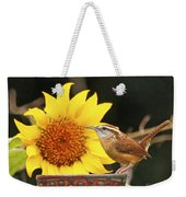 Carolina Wren And Sunflowers Weekender Tote Bag