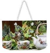 Carolina Wren And Tea Cups Weekender Tote Bag