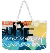 Carousel #7 Surf - Contemporary Abstract Art Weekender Tote Bag by Linda Woods