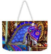 Carousel Beauty Blue Charger Weekender Tote Bag