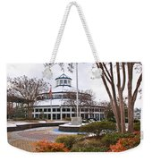 Carousel Building In Snow Weekender Tote Bag by Tom and Pat Cory
