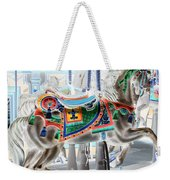 Carousel Horse In Negative Colors Weekender Tote Bag