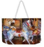 Carousel Horse Photo Art 02 Weekender Tote Bag