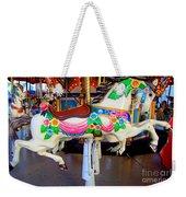 Carousel Horse With Flower Drape Weekender Tote Bag