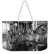 Carousel Horses In Black And White Weekender Tote Bag