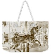 Carousel In Negative Sepia Weekender Tote Bag