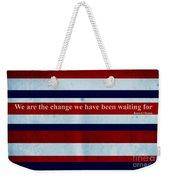 Carpe Diem Series - Barack Obama Weekender Tote Bag by Andrea Anderegg