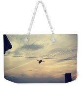 Carpenter Bees Abound On The Deck Weekender Tote Bag