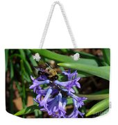 Carpenter On Hyacinth Weekender Tote Bag