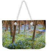 Carpet Of Blue Flowers In Spring Forest Weekender Tote Bag by Elena Elisseeva