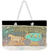 Carriage And Stagecoach Color Invert Weekender Tote Bag